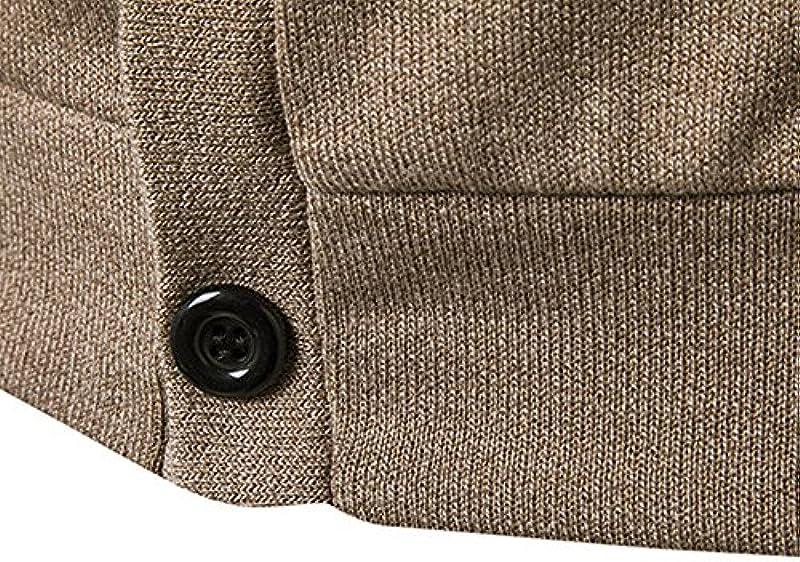 Qmber męska kurtka z kapturem kurtka sweter parka sweter bluza Hoodies Outdoor Coat kurtka dziana codzienne płaszcze outwear jesień zima topy, guzik długi rękaw kardigan: Odzież