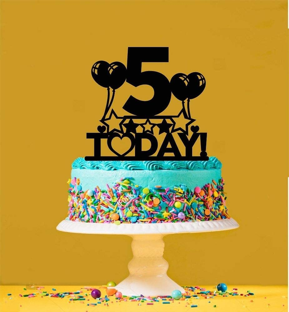 Sensational 5Th Birthday Cake Topper 5 Years Old Fifth Amazon Ca Toys Funny Birthday Cards Online Bapapcheapnameinfo