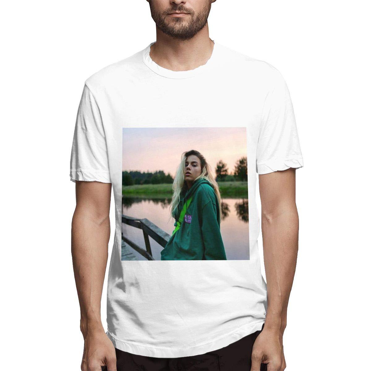 Lihehen Man Beatrich Retro Printing Round Neck Shirts