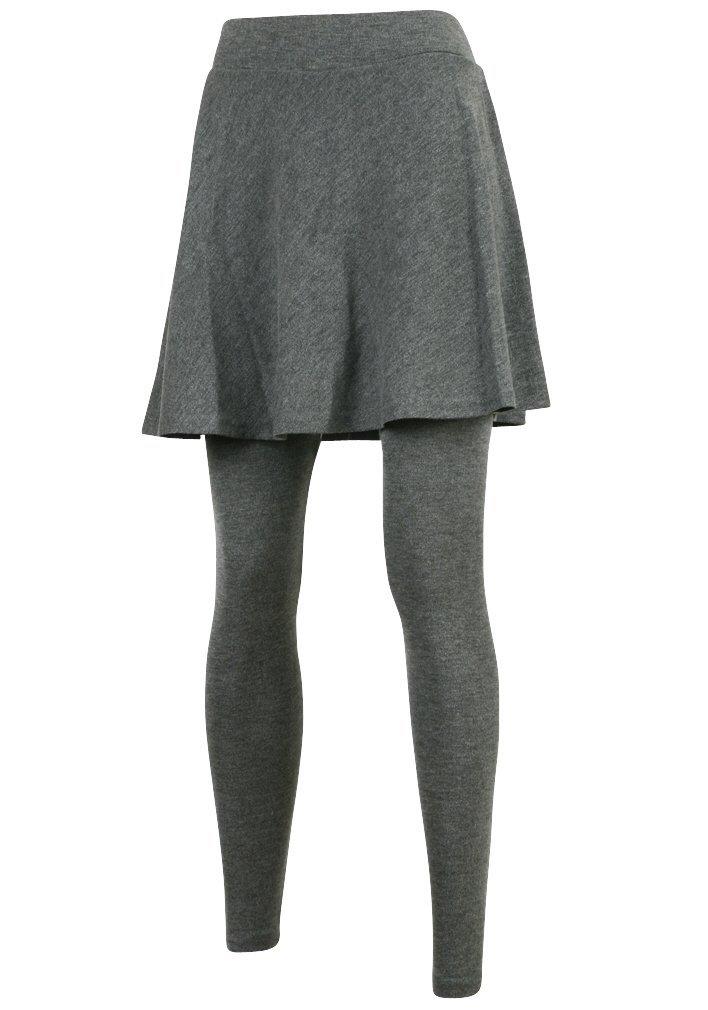 ililily Flare Skirt Leggings Plus-Size Elasticated Long Skinny Pants (leggings-160-1-F)