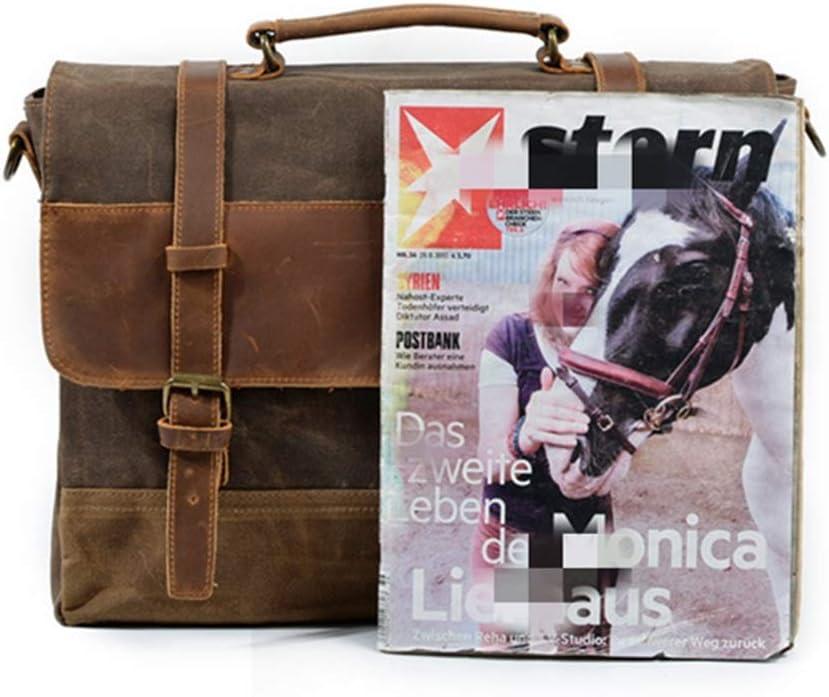 RVXHC Man Laptop Bag Laptop Briefcase Canvas Bag Waterproof Expandable Shoulder Bag Business Messenger Briefcases Multi-Functional Travel Rucksack 16 Inch Laptop Business Briefcase