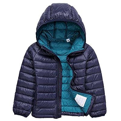 Jitong Filles Garçon Ultra Léger Doudounes Veste Manteau à Capuche Chaud Parka Gilets Blouson Hoodies