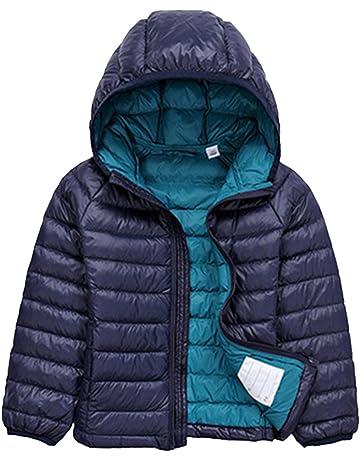 Jitong Bambini Cappotto con Cappuccio Ragazzi Caldo Manica Lunga Giacche  Piumino Packable Invernali Hoodies 2d730d193dc