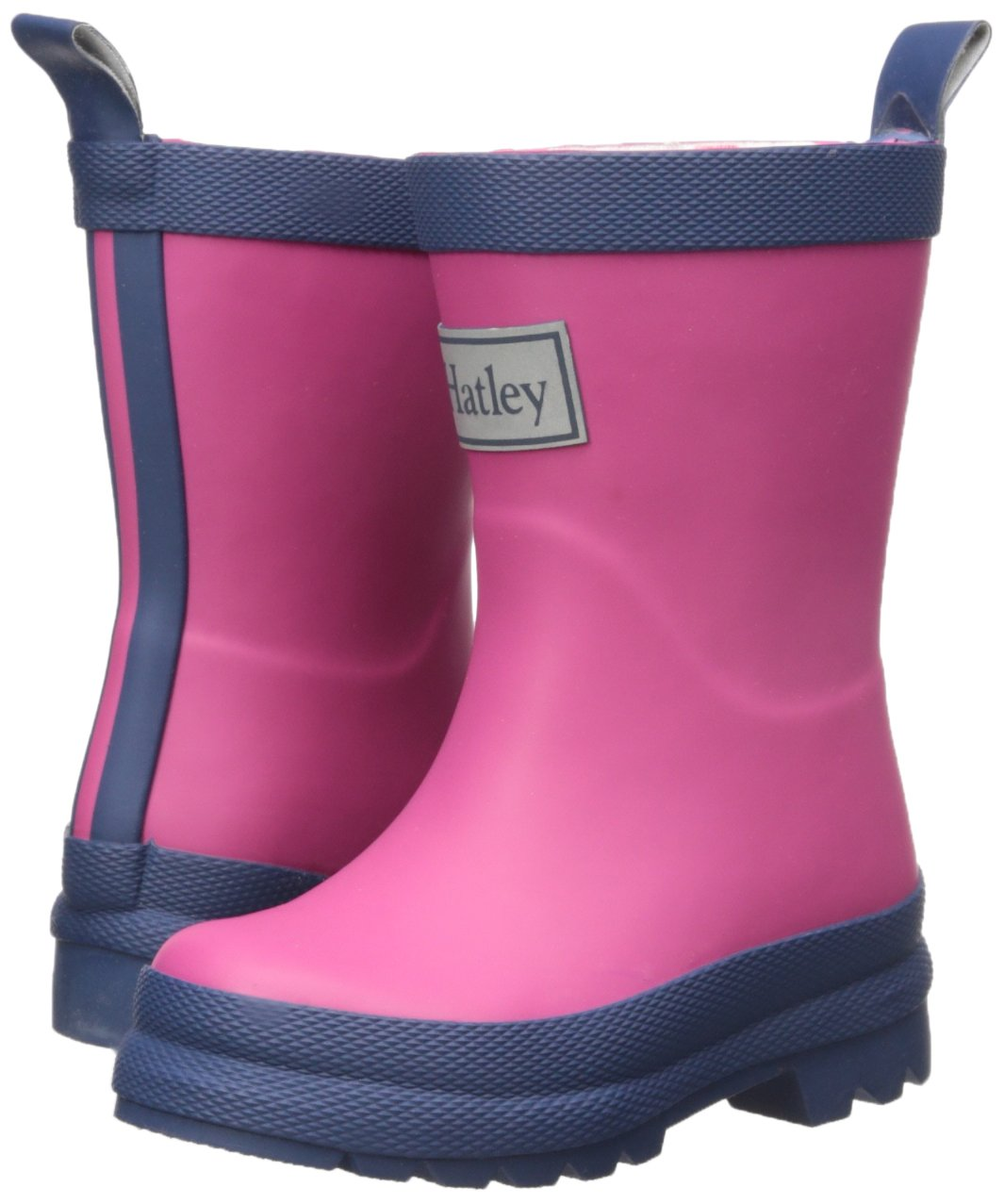 Hatley Kids' Classic Boots Girls Rain Accessory, Fuchsia Navy, 7 M US Toddler by Hatley (Image #6)