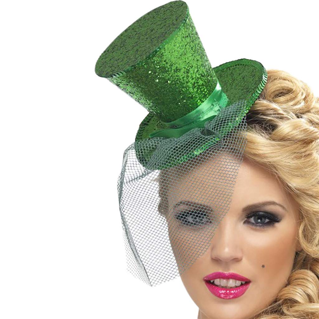 SSYUNO St Patrick's Day Costume, Irish Green Shamrock Head Boppers Hats Novelty Adult Festival Party Headbands
