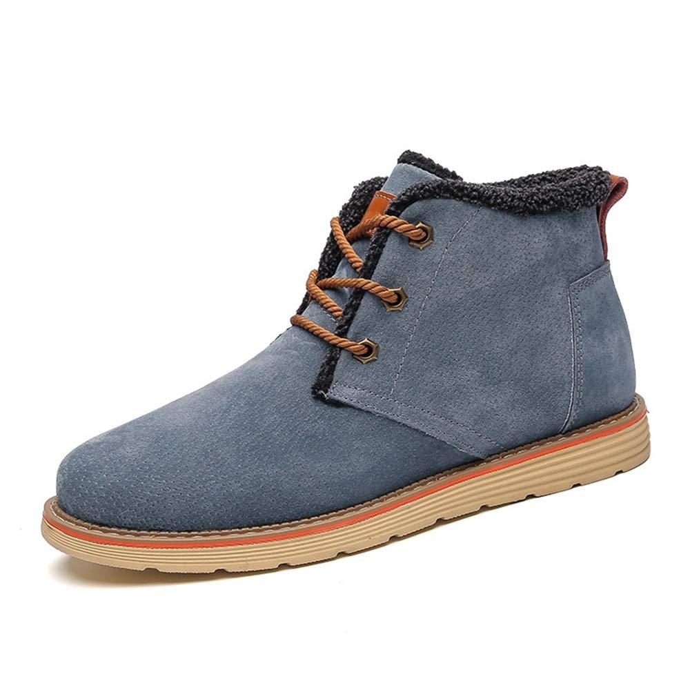 2018 Herren Stiefel Sommer schuhe, Herren Stiefeletten, Mode Mode Mode Freizeit Warm Casual Klassische Schnürung High Top Stiefel (Farbe   Warm Blau, Größe   36 EU) b8bf99