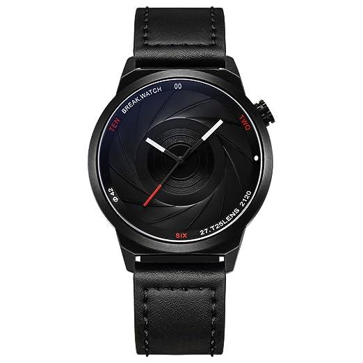 BREAK Reloj de Cuarzo para Hombres, Reloj de Pulsera único Reloj de Cámara Impermeable,