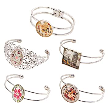 5pcs  silver colour oval 18x25mm bezel pendant setting jewellery making craft UK