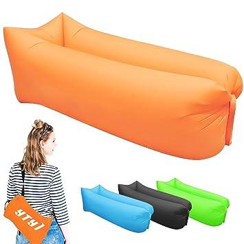 Tumbona Inflable- Camas de aire portátiles para dormir- silla/sofá ...