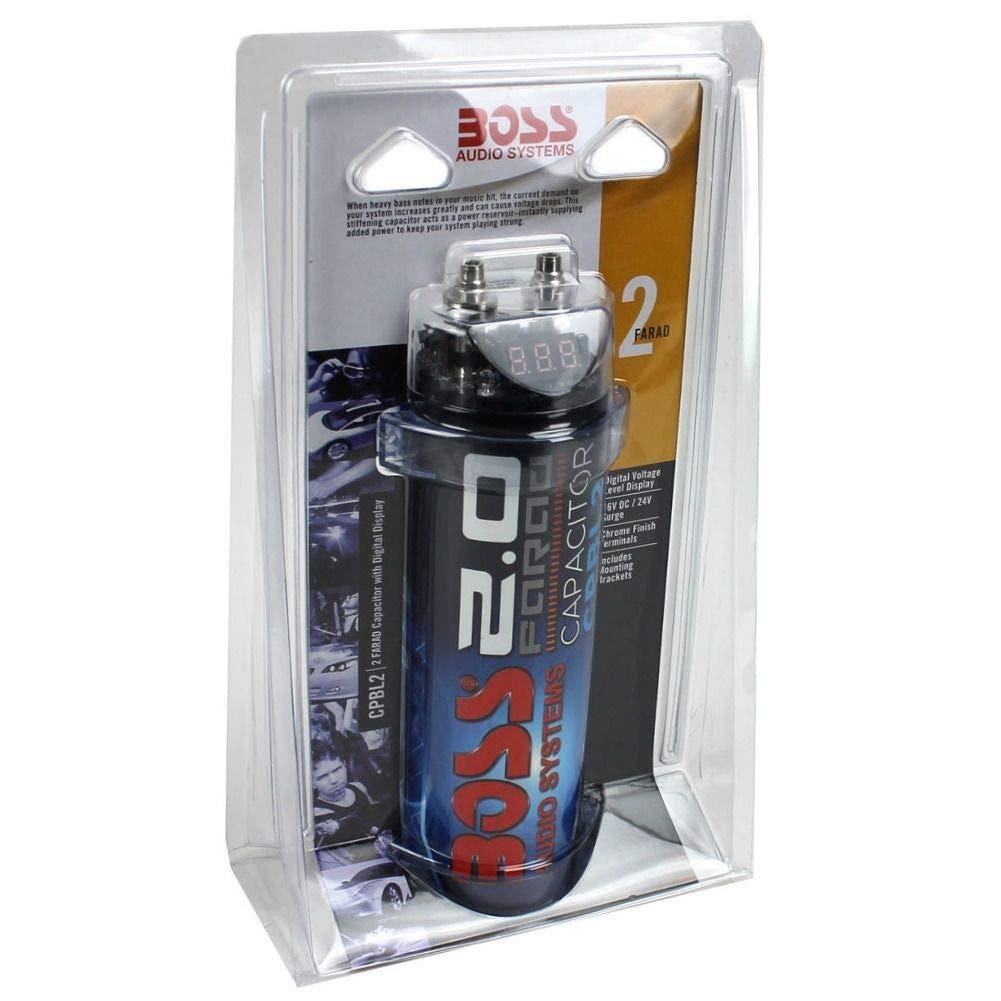 Boss Audio Systems CPBL2 Cilindrico Blu condensatore