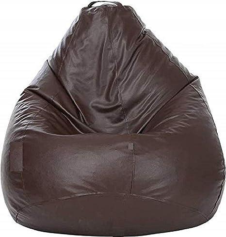 PackMatrix XXXL Tear Drop Bean Bag Cover Without Beans   Brown