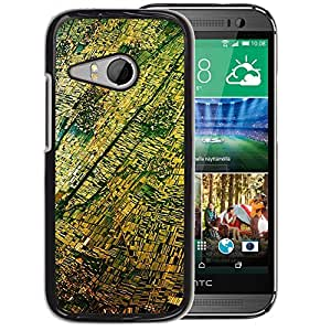 Planetar® ( Aerial View Photography Yellow ) HTC ONE MINI 2 / M8 MINI Fundas Cover Cubre Hard Case Cover