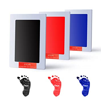 Hand & Footprint Makers Love Baby 100% Non-toxic Baby Handprint Footprint Imprint Kit Baby Souvenirs Ink Pad Gift For Newborn Baby