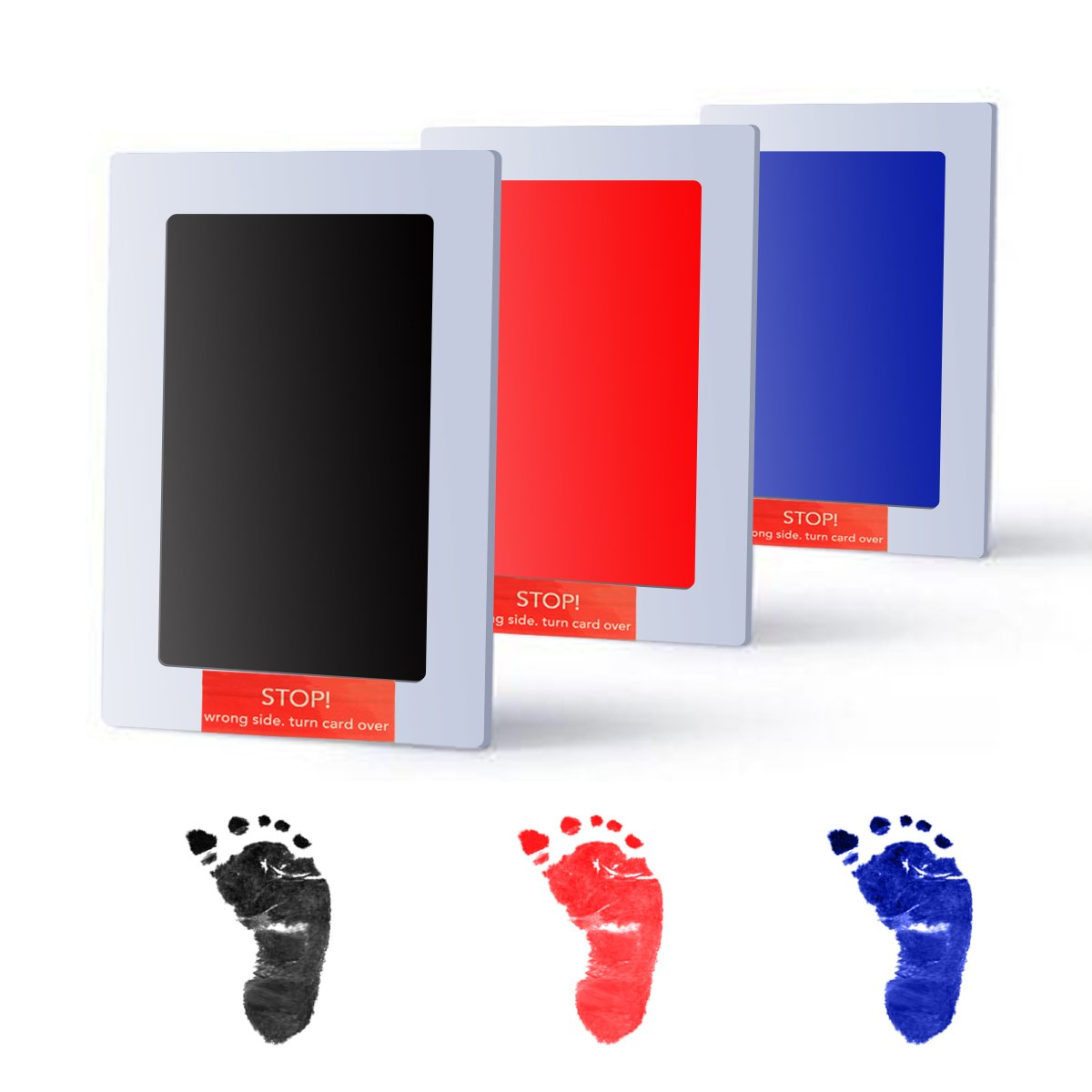 Baby Handprint and Footprint Photo Frame Kit by TopSuccess Without Ink-Touch,Safe and Non-Toxic Ink Print Kit for Baby Babyprints Inkpad Best for Newborn Baby Gifts GM10 (Black) by TopSuccess (Image #6)