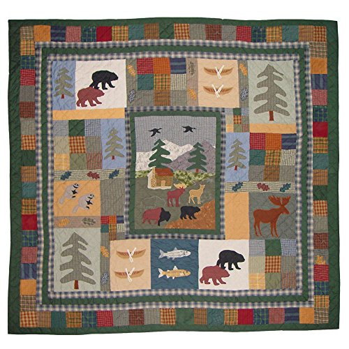 Patch Magic Twin Northwoods Walk Quilt, 65-Inch by 85-Inch (Patch Magic Twin Quilts compare prices)
