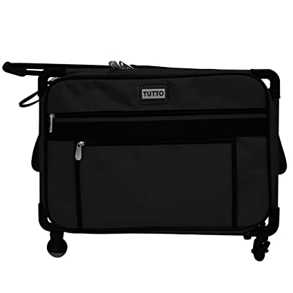 Amazon Tutto 40 Medium Sewing Machine Bag On Wheels Black Interesting Sewing Machine Carriers With Wheels