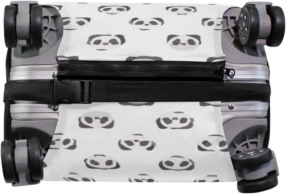 Panda White Black Travel Suitcase Protector Zipper Suitcase Cover Elastic