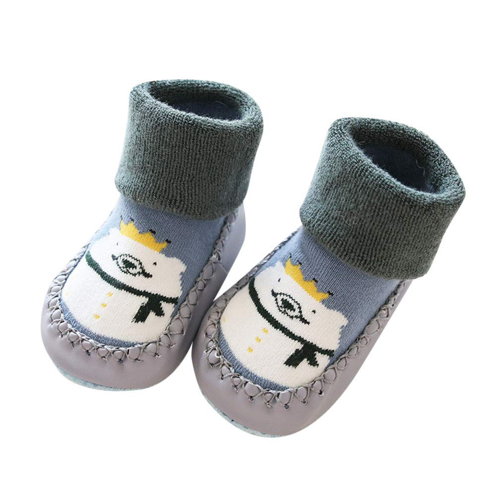 Non-Slip Boot Socks Kids Baby Cartoon Warm Shoes Indoor Slippers Socks
