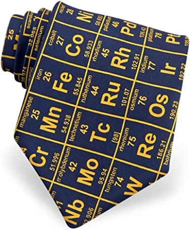 Men/'s Navy Blue Elements on Periodic Table Chemistry Science Lab Necktie Tie