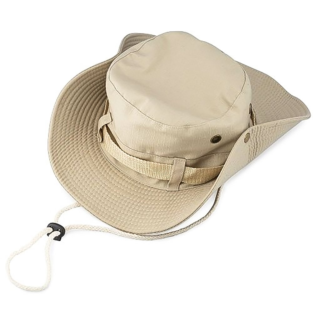 KT-Global UV Protection Outdoor Sun Hat Safari Fishing Hat with Neck Flap Ear Cover Wide Brim Sun Cap