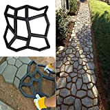 how to build a patio with pavers Path Maker Brick Mold Irregular DIY Pavement Mold Concrete Form Pathmate Stepping Stone Molds for Garden Patios 1PC (black)