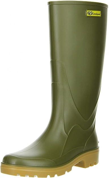 G&G Damen Gummistiefel Regenstiefel grün, Größe:38;Farbe:Grün