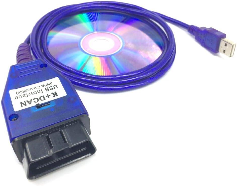 Tools INPA Ediabas NCS for BMW DCAN OBD2 Diagnose USB-Kabel FT232RQ Broco Auto K