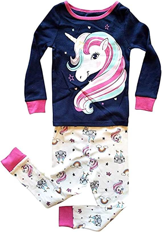 NEW Unicorn Girls Blue Long Sleeve Shirt /& Pants Outfit Set 2T 3T 4T 5T