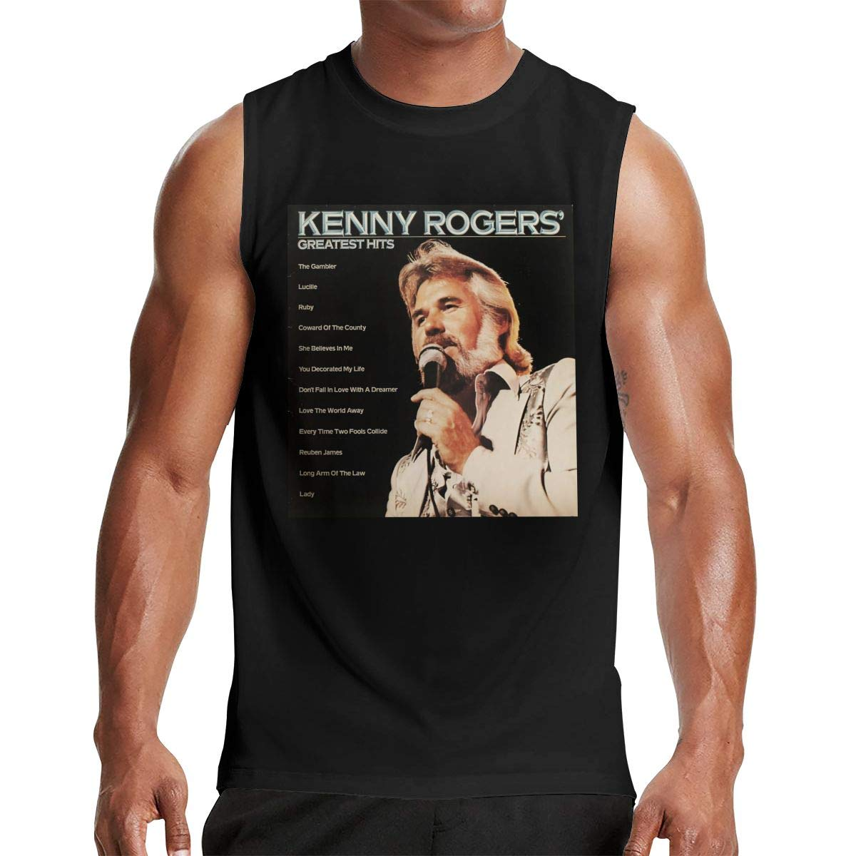 Thomlarryca Kenny Rogers Greatest Hits Poster S Gym Muscle T Shirt Classic Athletic Sl