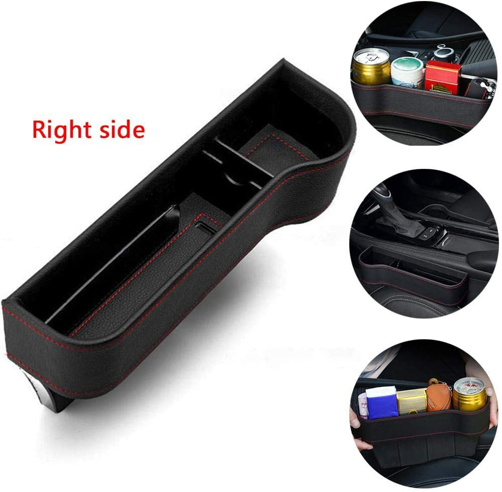 Car Console Side Pocket PU Leather Multifunctional Car Seat Side Storage Box Cup Holder Mobile Phone Holder Coin Pocket for Cars Trucks Auto Accessories Car Seat Gap Organiser