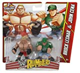 WWE Rumblers Brock Lesnar and John Cena Action Figure, 2-Pack