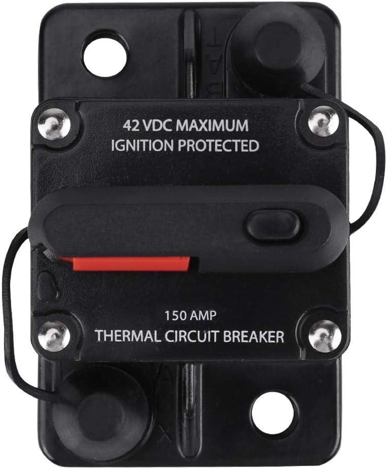 50A Disjoncteur r/éinitialisation manuelle en ligne audio st/ér/éo de disjoncteur de voiture de DC12V-42V 50A-300A