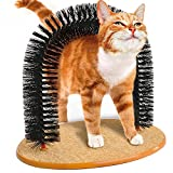 Self Groomer With Round Fleece Base Cat Toy Brush Toys For Pets Scratching Devices - Pier 27
