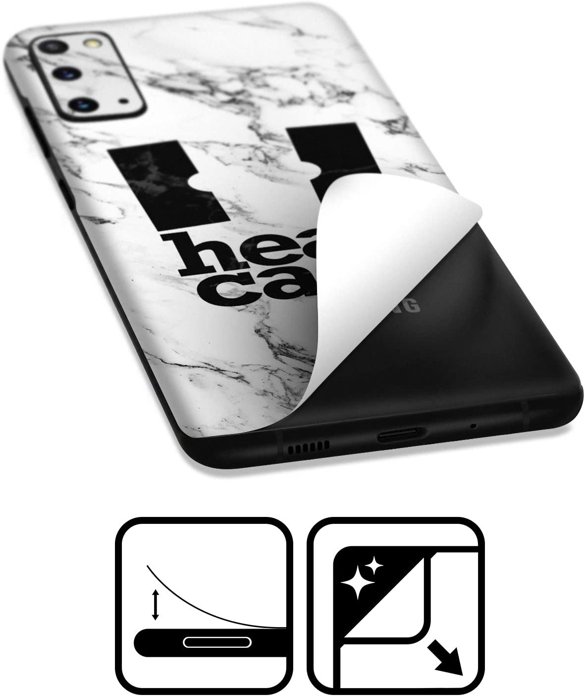 Head Case Designs Official Newcastle United FC NUFC 2017//18 Third Crest Kits Glossy Vinyl Sticker Skin Decal Cover Compatible for Samsung Galaxy A71 2019