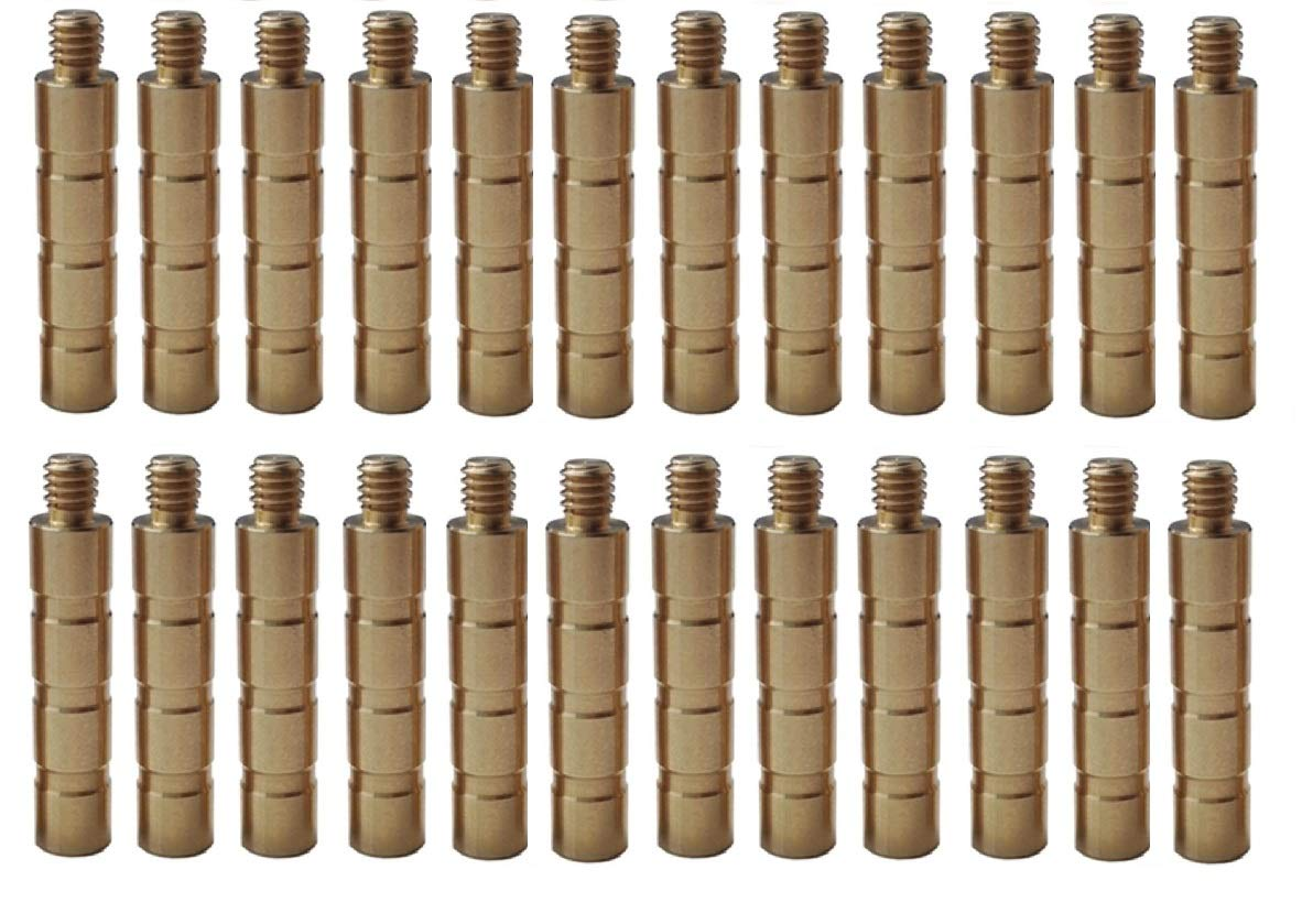 Hyuanpower ID.244/6.2mm, Brass Inserts 37Grain to 300Grain with Brass Weight 25Grain/50Grain/100Grain for Hunting Arrows Shaft of Archery Crossbow Compound Recurve Bow (Brass Weight, 100Grain)