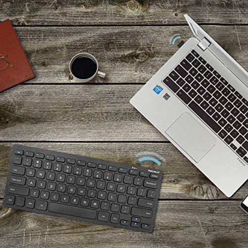 Macally 2.4G Mini teclado inalámbrico – ergonómico y cómodo – pequeño teclado para ordenador portátil o Windows PC, tableta, Smart TV – Plug & Play Teclado compacto 12 teclas de acceso rápido multimedia 11