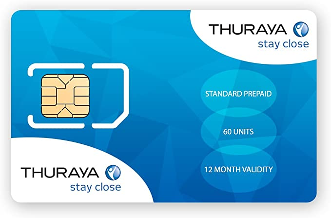 Thuraya Teléfono satélite tarjeta SIM estándar con 60 unidades: Amazon.es: Electrónica