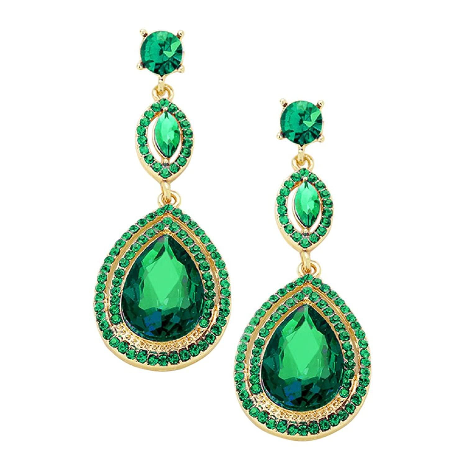 icing tassel tiered us quot green drop earrings