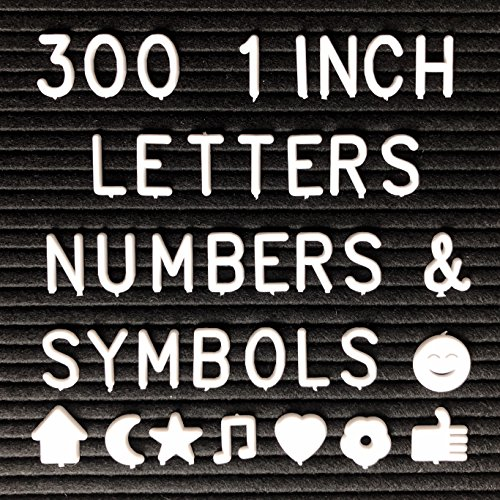 1 Inch Letters - Letter Board (300 Letters and Symbols ONLY) Changeable Letters Compatible with Most Felt Letter Boards.