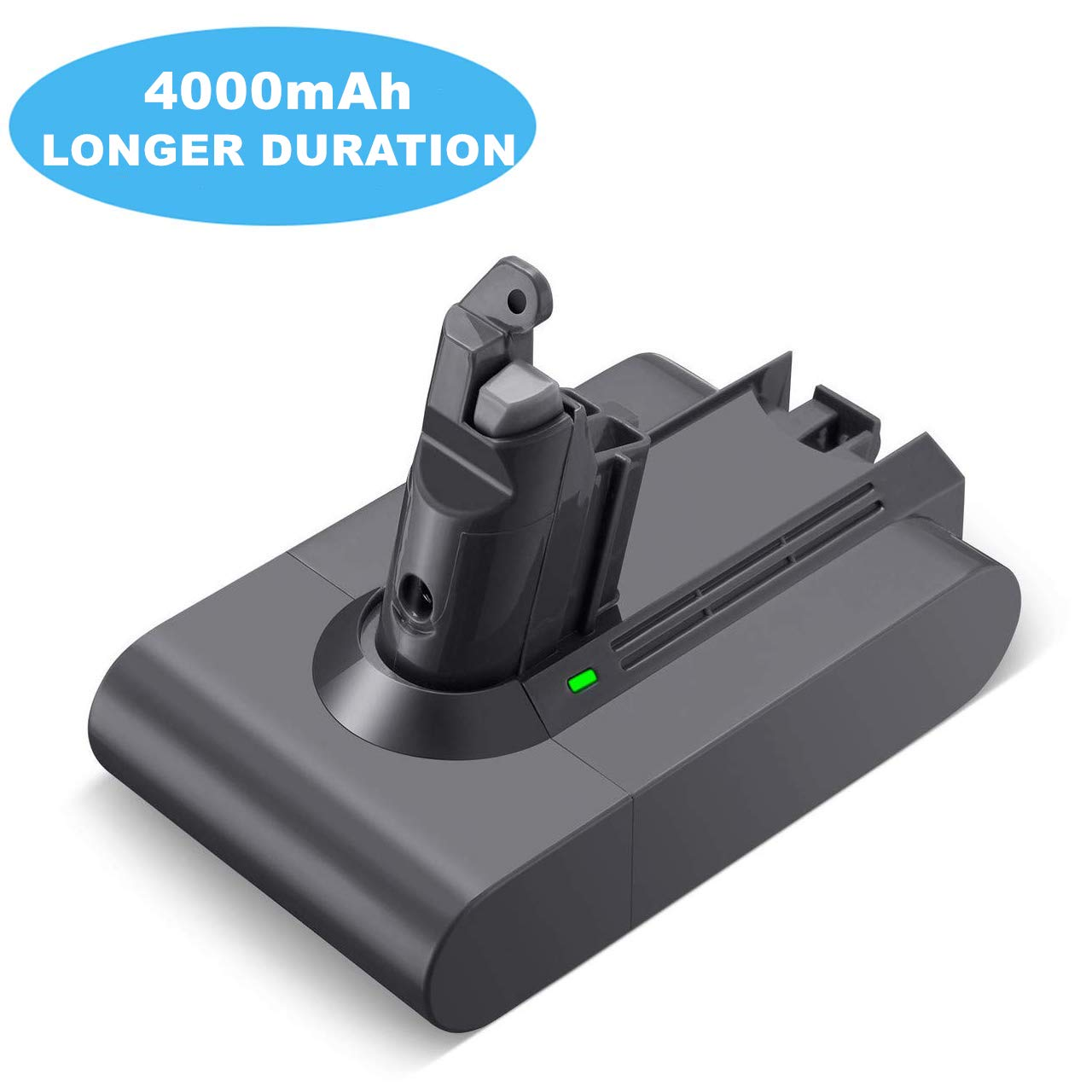 4000mAh V6 Battery 21.6v Li-ion Replacement for Dyson V6 DC58 DC59 DC61 DC62 Animal DC72 DC74 Series Cordless Handhold Pet Version Vacuum