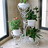 AIDELAI flower rack Pastoral European Style Creative Metal Flower Racks Indoor And Outdoor Living Room Balcony Decoration 4 Layers Flower Pot Rack Patio Garden Pergolas (Color : #2)