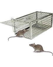 skycabin Prodotto Anti-Roditori, Ferro Gabbia Trappola Professionale per La Cattura di Animali Vivi a Entrate per Topi,Ratti e Scoiattoli