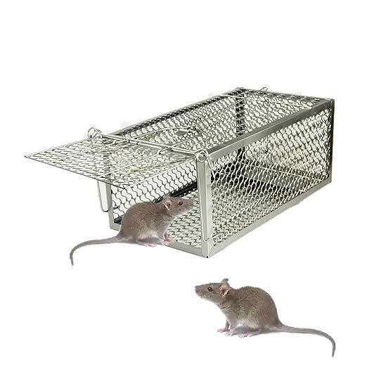 skycabin - 1-door ratón hierro jaula trampa, humano, Animal ...