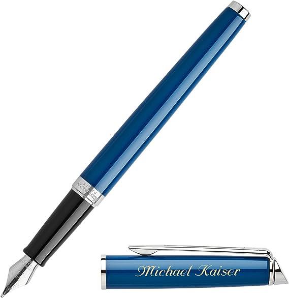mit speziellem Clip Farbe Kugelschreiber aus Metall mit Gravur blau