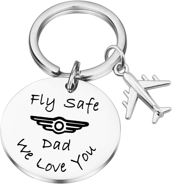 Pilot Keychain Fly Safe Keychain Pilot Gifts Personalised Pilot Graduation Gift Travel Gift Gift For Flight Attendant Traveller Gift