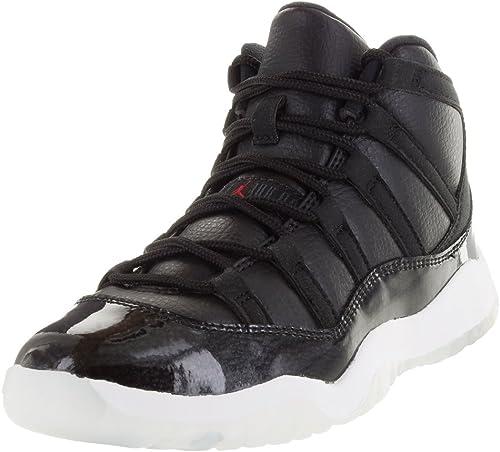 Nike Jungen Jordan 11 Retro BP Turnschuhe, SchwarzRotWeiß