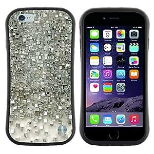 "Hypernova Slim Fit Dual Barniz Protector Caso Case Funda Para Apple (4.7 inches!!!) iPhone 6 / 6S (4.7 INCH) [Polígono de Espejo de Plata 3D reflectante""]"