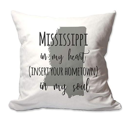Ol322ay Mississippi Personalizado en mi corazón su Ciudad ...