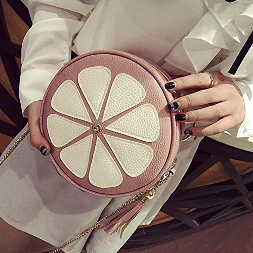 Body Messenger Bag Tassel Shoulder Women Handbag Pink Bags Mini Chain Fashion Bag Round Cross Domybest 0xq4Iaw4