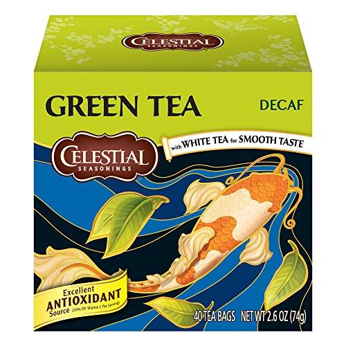 Celestial Seasonings Green Tea, Decaf, 40 Count (Pack of 6) Decaffeinated White Tea Tea
